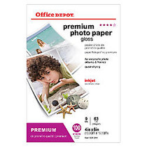 Office Wagon; Brand Premium Photo Paper, Glossy, 4 inch; x 6 inch;, 9 Mil, Pack Of 100 Sheets