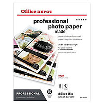 Office Wagon; Brand Professional Photo Paper, Matte, Double Sided, 8 1/2 inch; x 11 inch;, Pack Of 50 Sheets