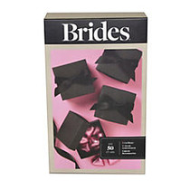 BRIDES; Favor Box Kit, 3 inch;H x 2 inch;W x 2 inch;D, Black, Pack Of 50