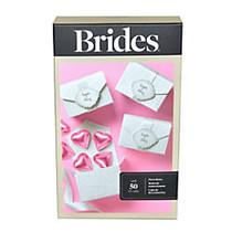BRIDES; Favor Box Kit, 3 inch;H x 2 inch;W x 2 inch;D, White, Pack Of 50