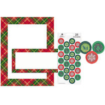 Great Papers! Holiday Stationery Kit, 8 1/2 inch; x 11 inch;, Country Plaid, Pack Of 25