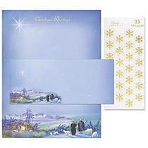 Great Papers! Holiday Stationery Kit, 8 1/2 inch; x 11 inch;, Wondrous Light, Set Of 25
