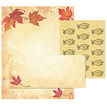 Great Papers!; Holiday Stationery Kit, Fall Leaves, 8 1/2 inch; x 11 inch;, Pack Of 25