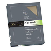 Southworth; Naturals Specialty Paper, 8 1/2 inch; x 11 inch;, 32 Lb, Latte, 100 Sheets