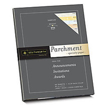 Southworth; Parchment Specialty Paper Sampler, 8 1/2 inch; x 11 inch;, Assorted Colors, Pack Of 50