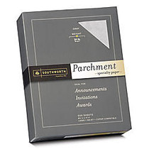 Southworth; Parchment Specialty Paper, 24 Lb., 8 1/2 inch; x 11 inch;, Gray, Pack Of 500
