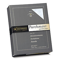 Southworth; Parchment Specialty Paper, 8 1/2 inch; x 11 inch;, 24 Lb., Blue, Pack Of 500