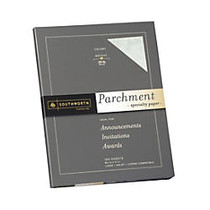 Southworth; Parchment Specialty Paper, 8 1/2 inch; x 11 inch;, 24 Lb., Celery, Pack Of 100