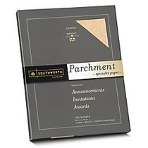 Southworth; Parchment Specialty Paper, 8 1/2 inch; x 11 inch;, 24 Lb., Copper, Pack Of 100