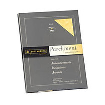 Southworth; Parchment Specialty Paper, 8 1/2 inch; x 11 inch;, 24 Lb., Gold, Pack Of 100