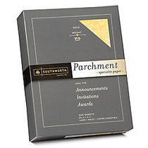 Southworth; Parchment Specialty Paper, 8 1/2 inch; x 11 inch;, 24 Lb., Gold, Pack Of 500