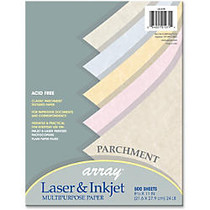 Array Bond Paper - Letter - 8.50 inch; x 11 inch; - 24 lb Basis Weight - Parchment, Textured - 500 / Ream - Natural, Gold, Tan, Blue, Pink