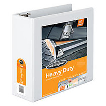 Wilson Jones; 385 Heavy-Duty View Binder With No-Gap D-Rings, 4 inch; Rings, 48% Recycled, White