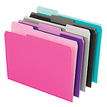 Office Wagon; Brand Interior File Folders, 1/3 Tab Cut, Letter Size, Assorted, Box Of 100