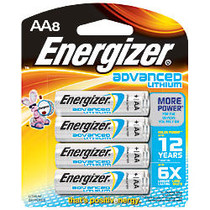 Energizer; Lithium Advanced AA Batteries, Pack Of 8