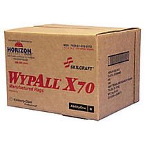 Wypall; X70 Industrial Wipes, 11 inch; x 16 1/2 inch;, White, 174 Sheets Per Roll