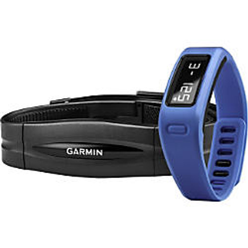Garmin; vivofit Fitness Band With Heart Rate Monitor, Blue