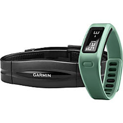 Garmin; vivofit Fitness Band With Heart Rate Monitor, Teal
