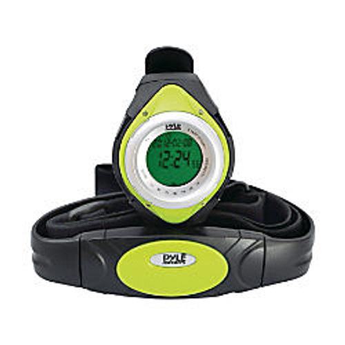 Pyle PHRM38GR Heart Rate Monitor Watch with Calorie Counter and Target Zones (Green)
