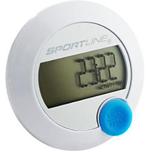 Sportline 345 DS Calorie Tracking Pedometer, White, WV1056WH