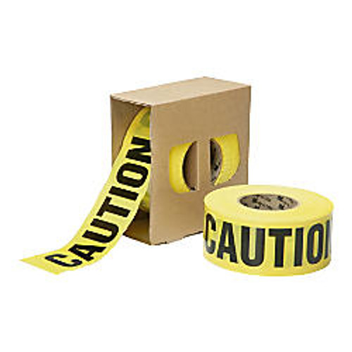 SKILCRAFT; Non-Adhesive  inch;Caution inch; Barricade Tape, 3 inch; x 1000', Yellow/Black (AbilityOne 9905-01-613-4243)