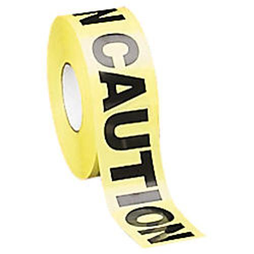 Tatco  inch;Caution inch; Barricade Tape, 3 inch; x 1000', Yellow