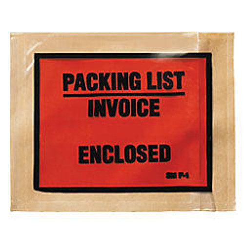 3M™  inch;Packing List/Invoice Enclosed inch; Envelopes, Full View, Case Of 1,000