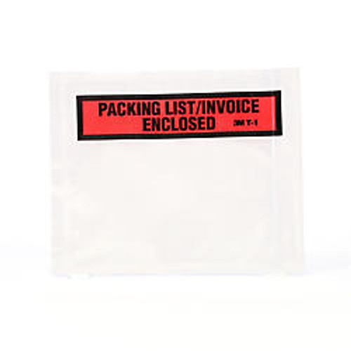 3M™  inch;Packing List/Invoice Enclosed inch; Envelopes, Top View, Box Of 100