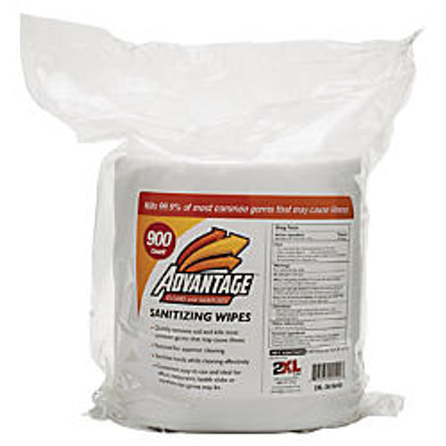 2XL Advantage Sanitizing Wipes Refill, 6 inch; x 8 inch;, Pack Of 900