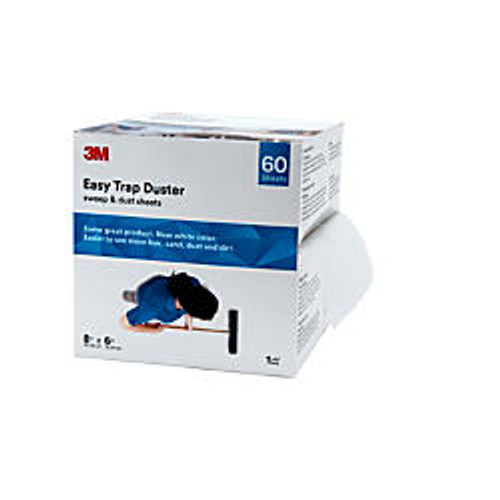 3M™ Easy Trap Duster Sweep And Dust Sheets, 8 inch; x 6 inch; x 30', 60 Sheets