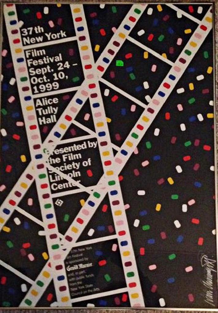 Ivan Chermayeff, Lincoln Center Film Festival Poster (Hand Signed), 1999
