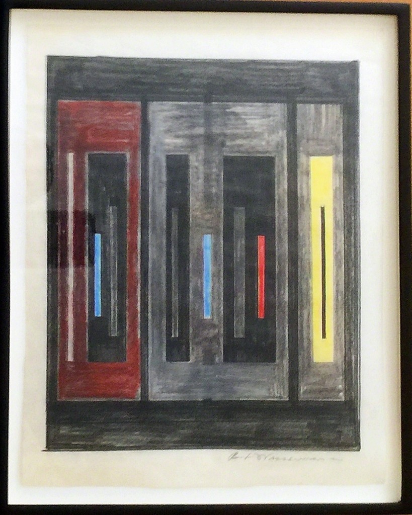 Burton Wasserman, Untitled Mid Century Modern Geometric Abstraction (Protege of Ad Reinhart & Burgoyne Diller), ca. 1960