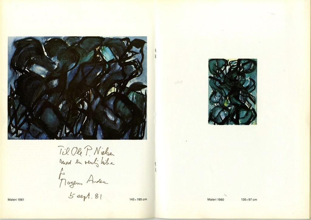 Pierre Alechinsky, ARIS-KOBENHAVN CoBrA Catalog, Uniquely Hand Signed by 10 Artists, 1981
