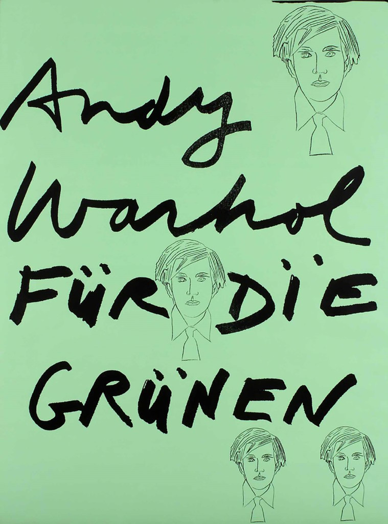 ANDY WARHOL, Fur Die Grunen, For the Green Party 1978, Silkscreen Poster for German Green Party