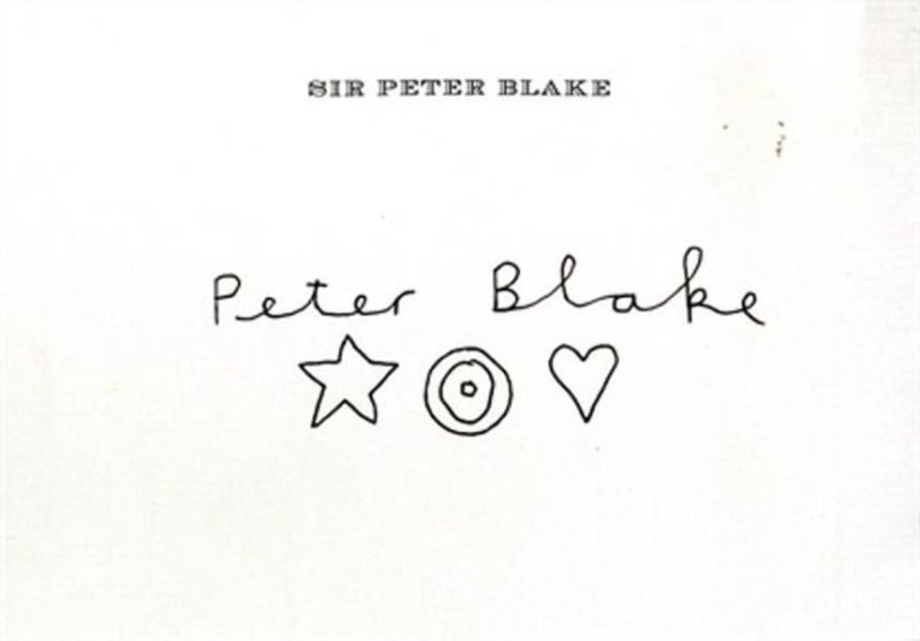 PETER BLAKE Unique Signed Original Drawing on his Private Watermarked Stationery