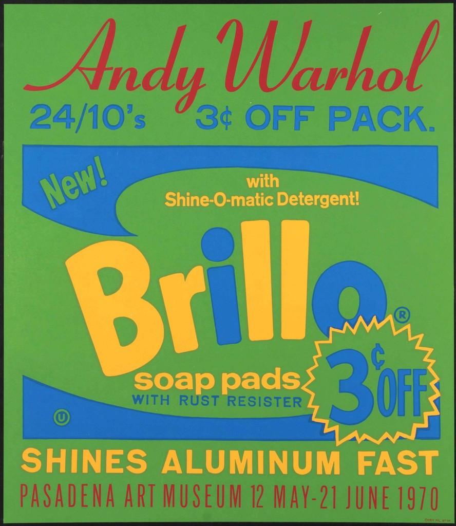 ANDY WARHOL Vintage Pasadena Art Museum Poster 1970, Original Silkscreen Poster for Iconic Exhibition