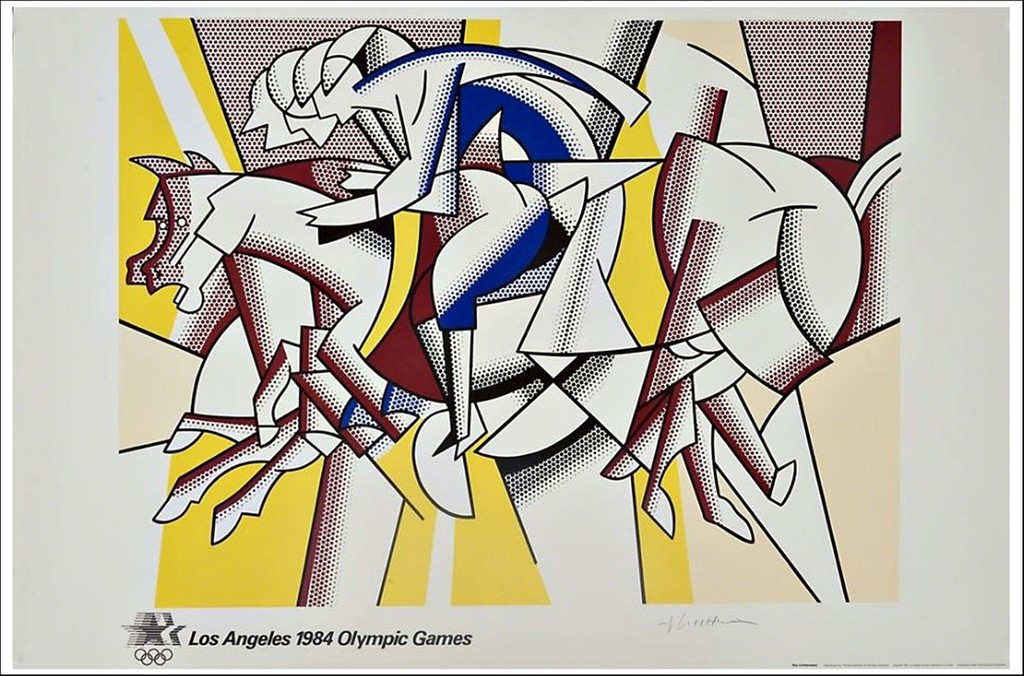 Roy Lichtenstein, The Red Horsemen,  1982 (with official COA from publisher & Olympic Committee)