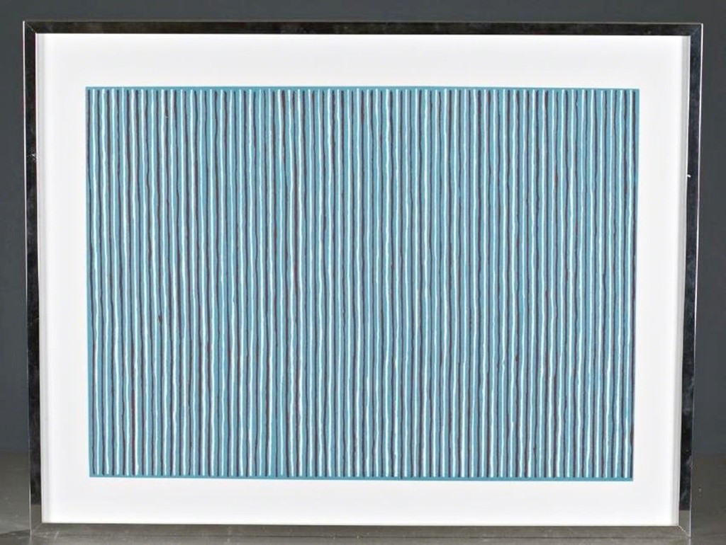 GENE DAVIS Sonata 1979-1980, Lithograph on Arches Paper. Pencil Signed. Numbered. Blind stamped. Framed.