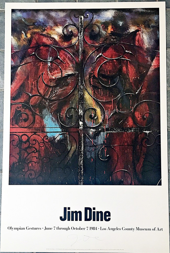 JIM DINE Olympian Gestures (Hand Signed) 1984, Limited Edition Silkscreen Poster. Hand signed.