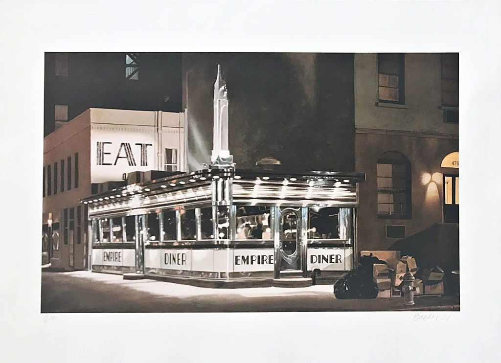 JOHN BAEDER Empire Diner 1981, Photolithograph. Pencil signed and numbered. Unframed.