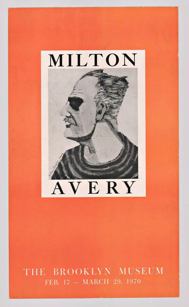 MILTON AVERY The Brooklyn Museum Exhibition 1970, Rare vintage offset lithograph. Unframed.