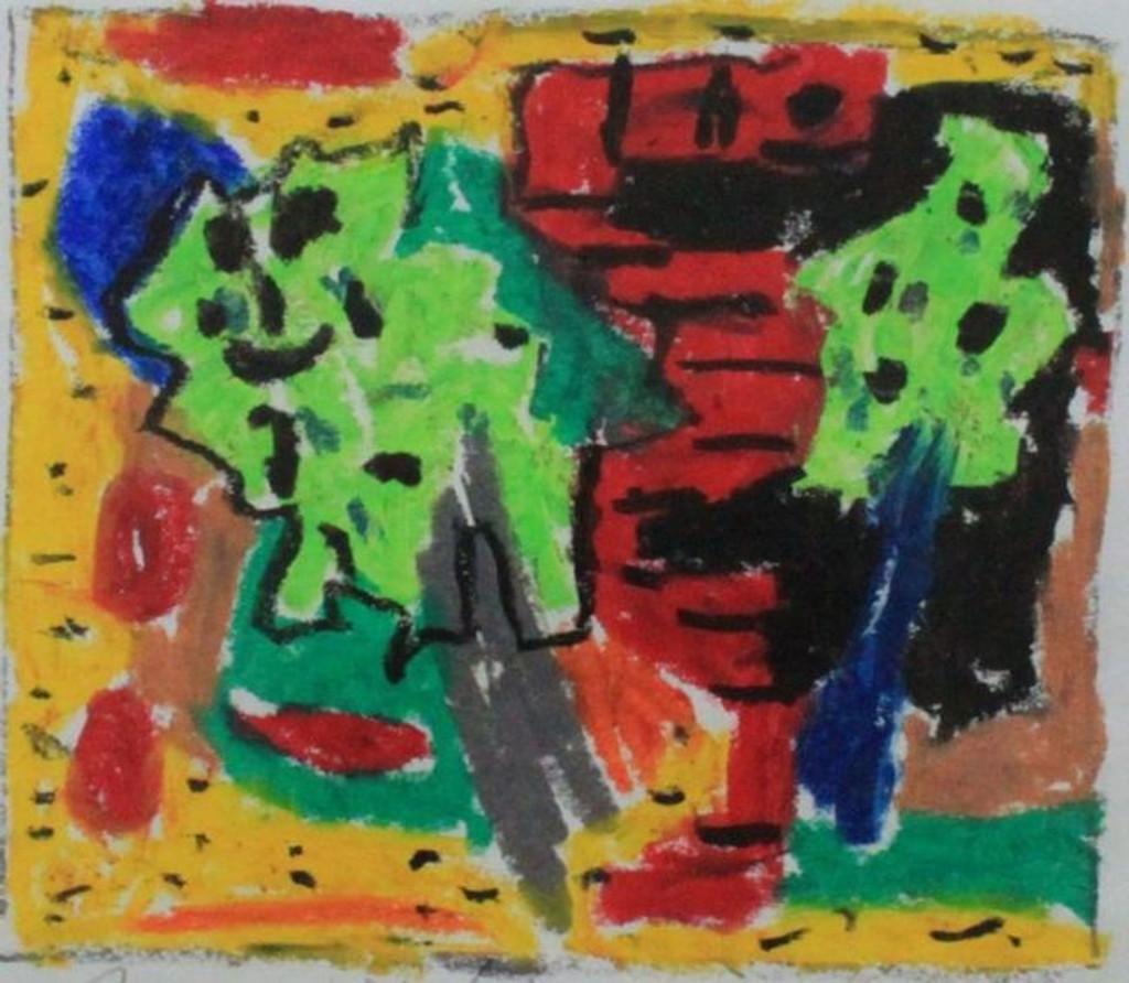 JAY MILDER Gouache Painting Signed Hans Hofmann protege Jewish Mysticism, Framed