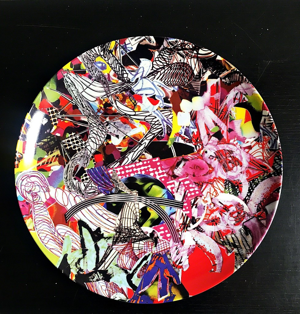 FRANK STELLA Untitled Charger Plate 1997, Limited edition Ceramic Plate. Numbered 76/300
