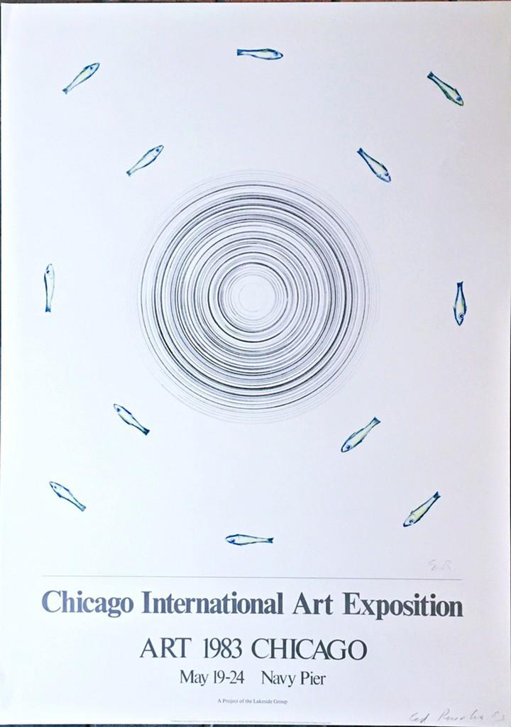 ED RUSCHA Chicago International Art Exposition (Hand Signed) 1983