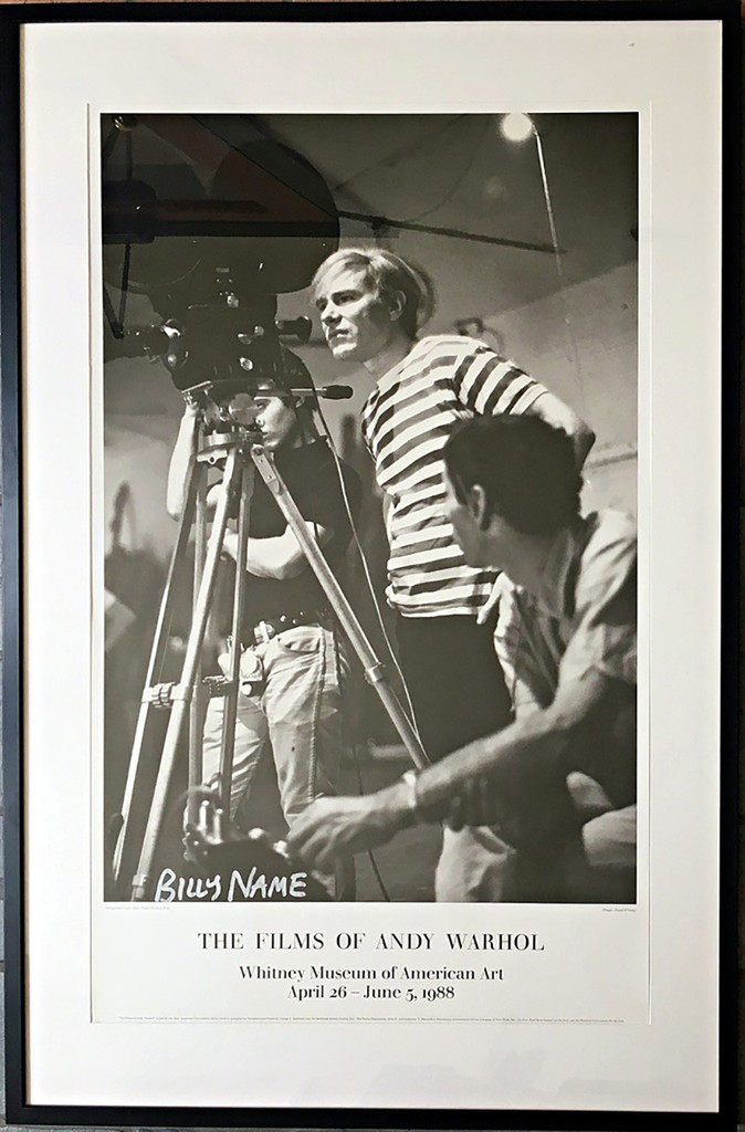 BILLY NAME Films of Andy Warhol, Whitney Museum of American Art (Signed) 1988, Offset Lithograph Poster. Hand Signed.