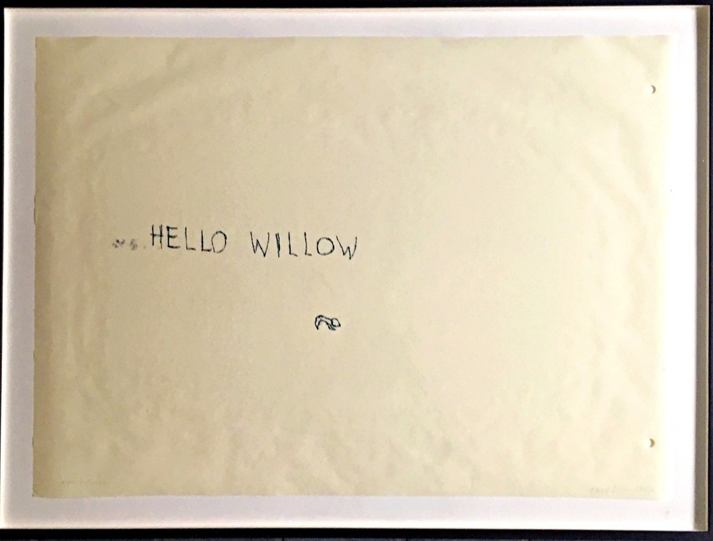 Tracey Emin, Hello Willow (unique work created for the daughter of Warhol Foundation agent Tim Hunt and author Tama Janowitz) 1997