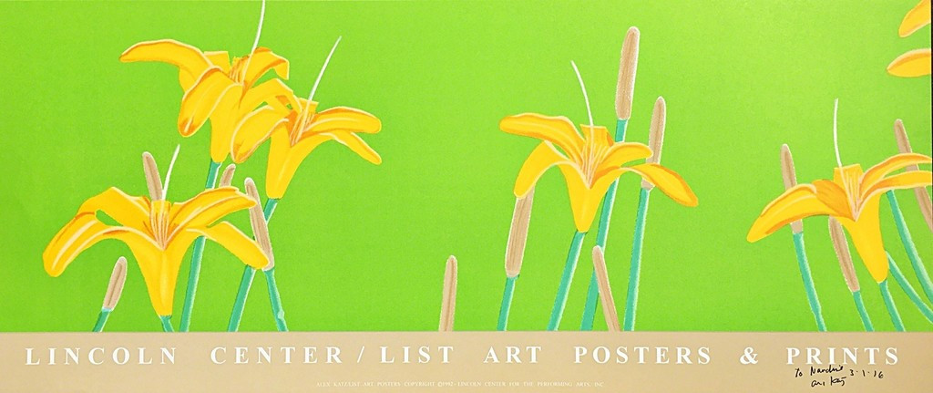 ALEX KATZ Day Lilies, Silkscreen  (Hand Signed and Dated)