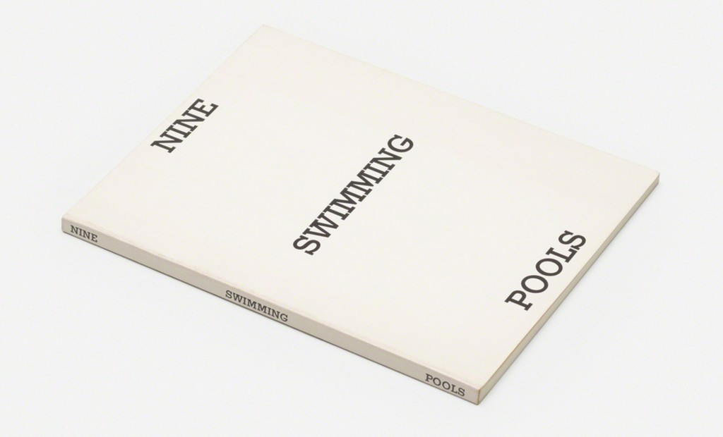 ED RUSCHA Nine Swimming Pools and a Broken Glass (HAND SIGNED) 1976, Limited Edition Artist's Book: Hand Signed by Ed Ruscha