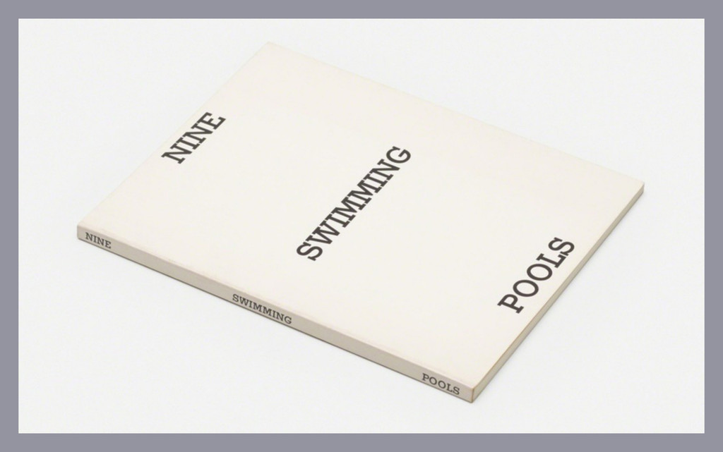 Ed Ruscha,  Nine Swimming Pools and a Broken Glass (HAND SIGNED) 1976, Limited Edition Artist's Book: Hand Signed by Ed Ruscha