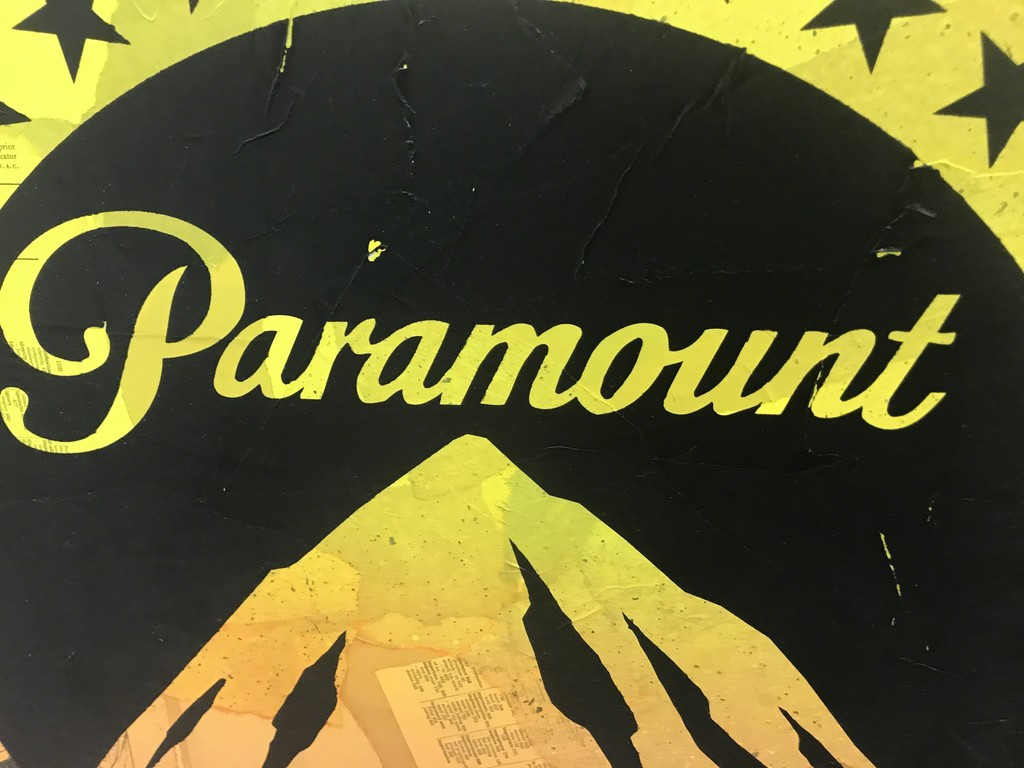 Paramount (Yellow Mountain), 2018 Cey Adams (American, 1962), Paintings / Unique mixed media collage with hand painting and silkscreen on panel board. Hand signed. Ready to hang.